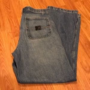 Express wide leg worker jeans